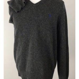 Ralph Lauren gray 100% lambs wool sweater